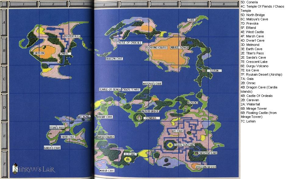 Final Fantasy Origins World Map - AVIDADECOBO