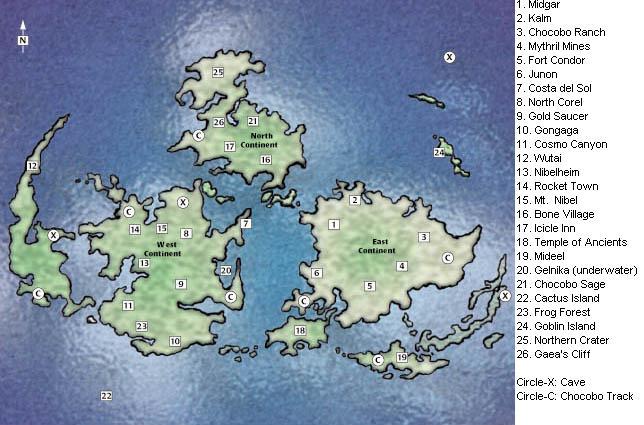 Final Fantasy VII Locations (Final Fantasy Solum)