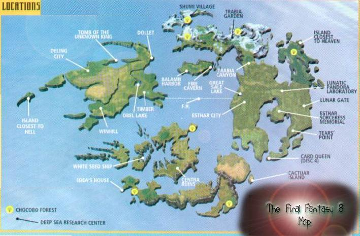 Final Fantasy X World Map.Site Map